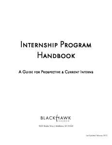 Internship Program Handbook