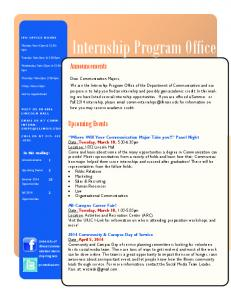 Internship Program Office