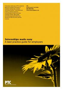 Internships made easy A best practice guide for employers