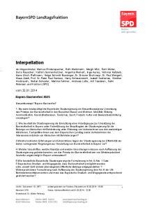 Interpellation. BayernSPD Landtagsfraktion. vom Bayern Barrierefrei 2025