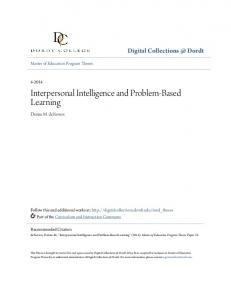 Interpersonal Intelligence and Problem-Based Learning