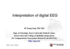 Interpretation of digital EEG