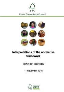 Interpretations of the normative framework