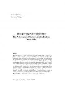 Interpreting Untouchability