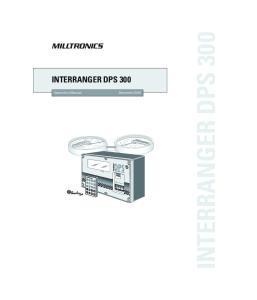 INTERRANGER DPS 300. Instruction Manual December 2001