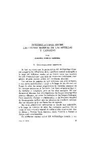 INTERRELACIONES ENTRE LAS FAUNAS MARINAS DE LAS ANTILLAS Y CANARIAS