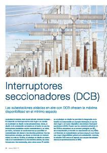 Interruptores seccionadores (DCB)