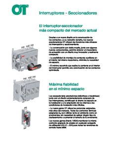 Interruptores - Seccionadores
