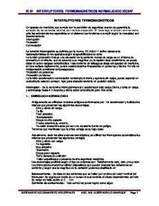 INTERRUPTORES TERMOMAGNETICOS NORMALIZADO IEC947 INTERRUPTORES TERMOMAGNETICOS
