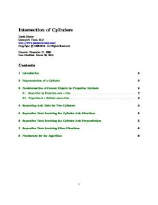 Intersection of Cylinders