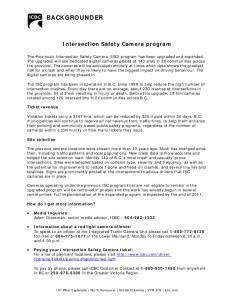 Intersection Safety Camera program