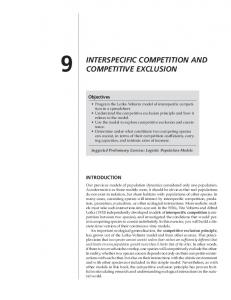 INTERSPECIFIC COMPETITION AND COMPETITIVE EXCLUSION