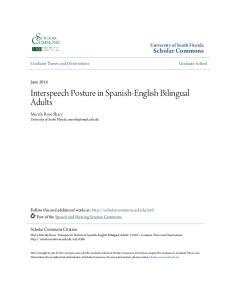 Interspeech Posture in Spanish-English Bilingual Adults
