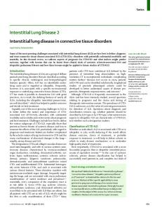 Interstitial Lung Disease 2 Interstitial lung disease in connective tissue disorders