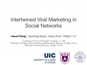 Intertwined Viral Marketing in Social Networks