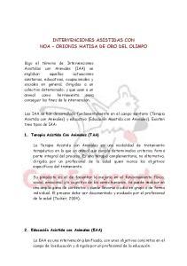 INTERVENCIONES ASISTIDAS CON NOA ORIONIS HATISA DE ORO DEL OLIMPO