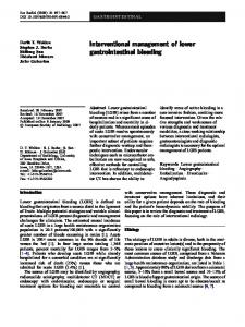 Interventional management of lower gastrointestinal bleeding