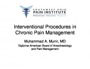 Interventional Procedures in Chronic Pain Management