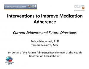 Interventions to Improve Medication Adherence