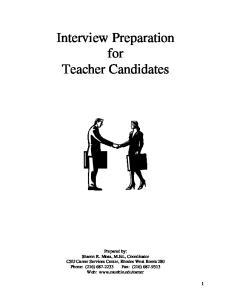 Interview Preparation for Teacher Candidates