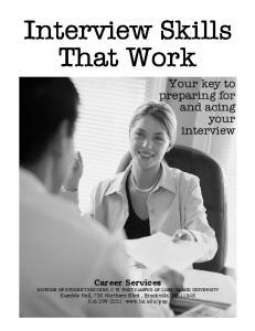Interview Skills That Work