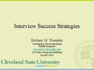 Interview Success Strategies