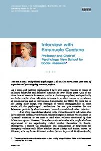Interview with Emanuele Castano