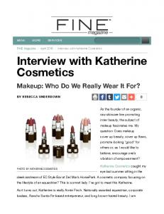 Interview with Katherine Cosmetics
