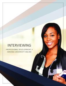 INTERVIEWING. Written by Kelly Zugay, M.A