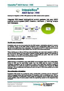 IntesisBox ASCII Server - KNX