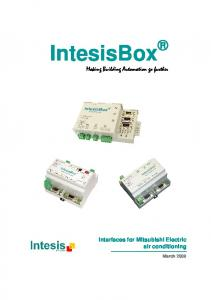 IntesisBox. Making Building Automation go further. Interfaces for Mitsubishi Electric air conditioning