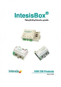 IntesisBox. Making Building Automation go further. KNX EIB Products