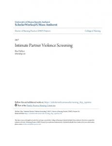 Intimate Partner Violence Screening