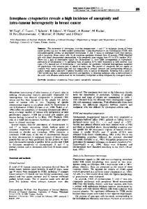 intra-tumour heterogeneity in breast cancer