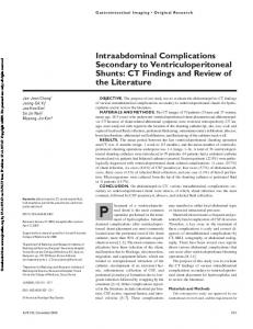 Intraabdominal Complications Secondary to Ventriculoperitoneal Shunts: CT Findings and Review of the Literature