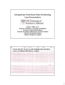 Intrapartum Fetal Heart Rate Monitoring Case Presentation