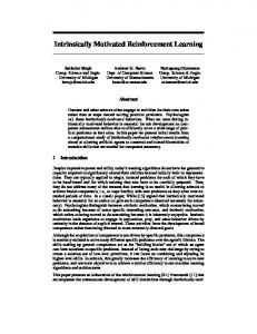 Intrinsically Motivated Reinforcement Learning
