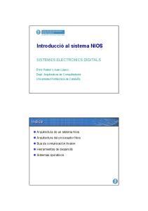 Introducció al sistema NIOS