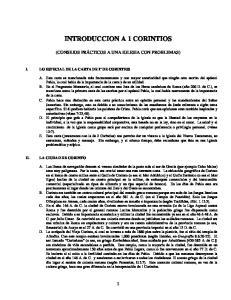 INTRODUCCION A 1 CORINTIOS