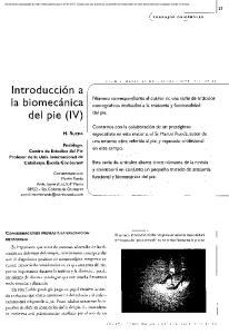 Introducción a la biomecánica del pie (IV)