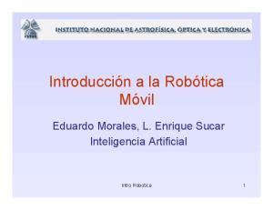 Introducción a la Robótica Móvil