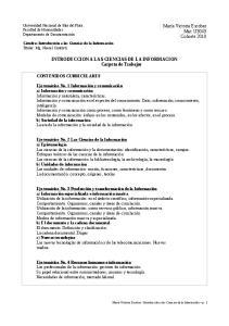 INTRODUCCION A LAS CIENCIAS DE LA INFORMACION Carpeta de Trabajos