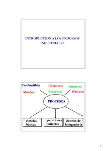 INTRODUCCION A LOS PROCESOS INDUSTRIALES