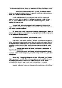 INTRODUCCION A LOS SISTEMAS DE DESARROLLO DE LA CONDICION FISICA