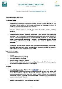 INTRODUCCIÓN AL DERECHO Agustín Villalba Zabala