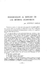 INTRODUCCION AL ESTUDIO DE LOS SISTEMAS ECONOMICOS