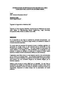 INTRODUCCION DE SISTEMAS DE FILTRACION DE LARGA DURACION PARA ACEITE DE MOTORES DIESEL