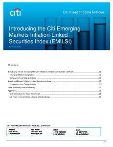 Introducing the Citi Emerging Markets Inflation-Linked Securities Index (EMILSI)