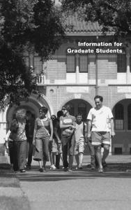 Introduction. Admission to Graduate Study