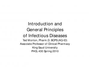 Introduction and General Principles of Infectious Diseases